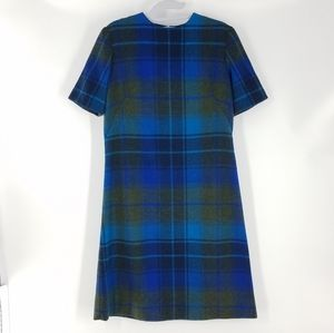 Vintage Plaid Wool Hand Crafted SS Dress